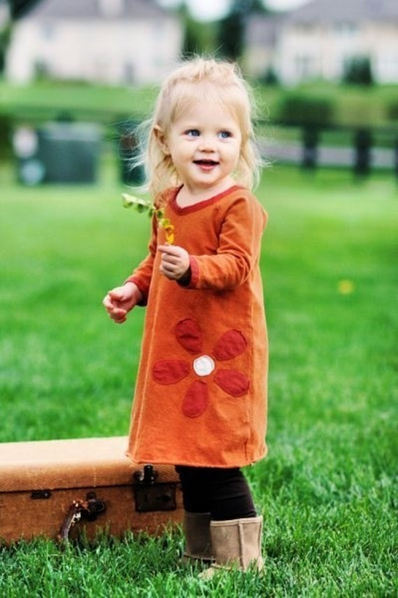 Organic  Flower Dress for Kids