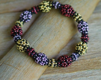 Colorful Spheres - Beaded Bangle