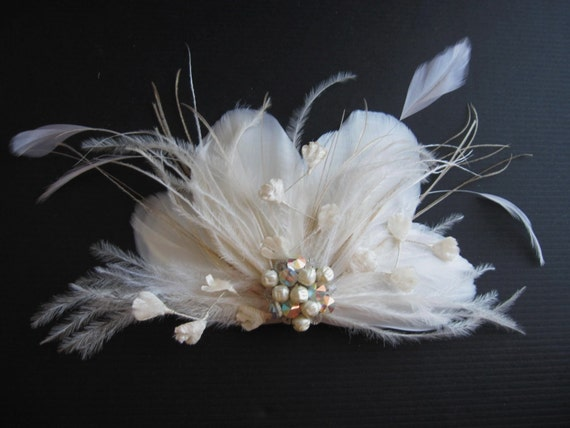 KYNA3, MADE TO ORDER HAIR PIECE, 14 DAY TURNAROUND, feathers, fascinator, hair piece, bridal, custom