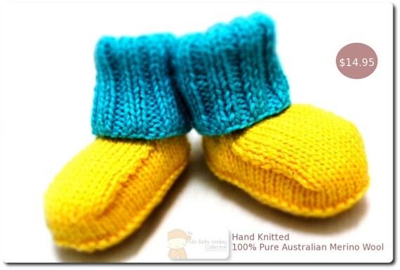 Pure Australian Merino Wool Knitted Ugg Booties