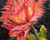 Abstract Rose - Original Oil Painting of a Red Rose by Nithya Swaminathan