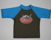 Blue\/Khaki Flying Saucer Tee
