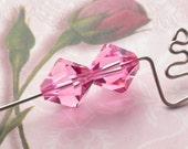 Vintage Swarovski 10mm Bicones Rose Pink 2