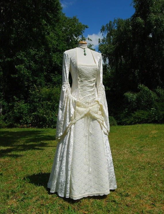 Medieval Wedding Gown Dress Celtic Renaissance Made To Order