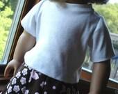 White T-Shirt for American Girl Doll