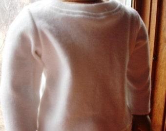 Long Sleeve White T Shirt for American Girl Doll