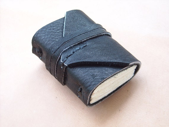 Black Colour leather MiNiBook