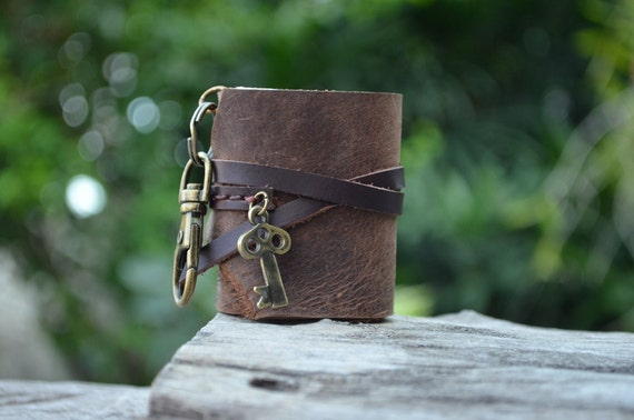MiNiBook Key Brown Color leather