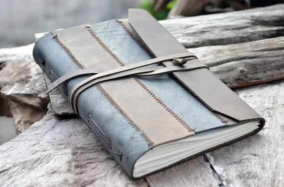 Zig Zag Leather Notebook