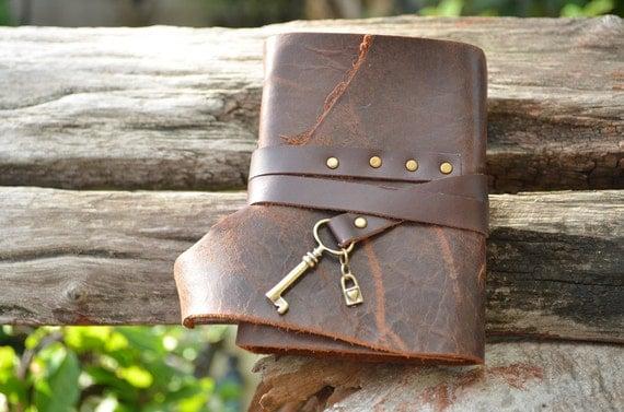 S.A.L.E MiniBook A7 Big key lock & Vintage Brown