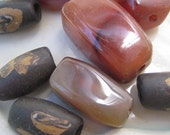 Destash lot of 9 carnelian and clay beads