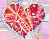 Love is Everywhere - original gouache painting