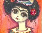Viva la Vida - original watercolor painting