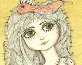 Beatrice  -  original drawing / painting