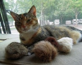 Cat Toy/ Tribbles/ Recycled Fur/ Set of 3