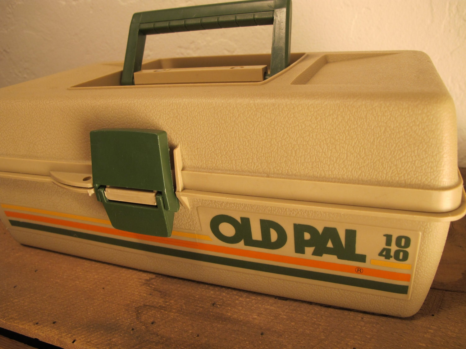Vintage Old Pal Plastic Fishing Tackle Box by downhomevintage