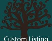 Custom Order for mzJewels