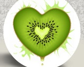 "SALE KIWI Pocket Mirror or Magnet - 2.25"" 2-1/4 inch"