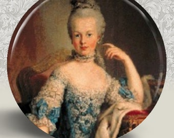 Marie Antoinette Pocket Mirror or Magnet