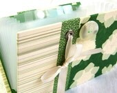 Cute and Stylish Handmade Coupon Organizer Holder Green Floral