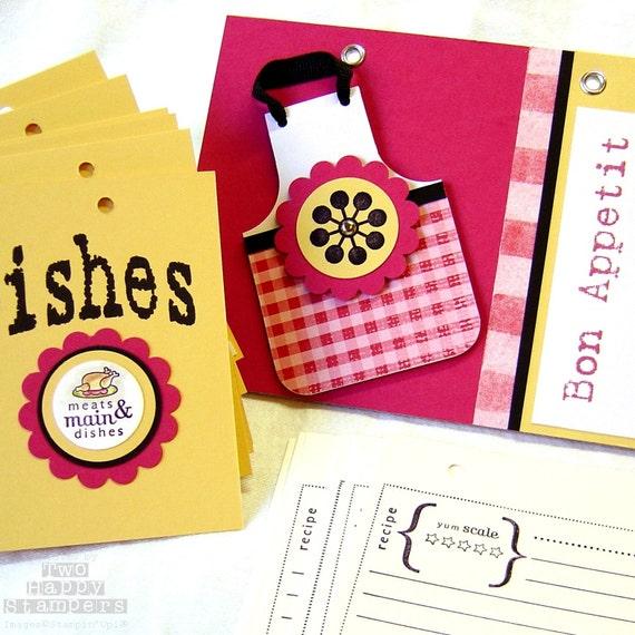 handmade flip recipe book album stylish and magnetic cookbook