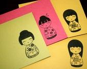 Kimono Girl-Set of 4 Note Cards