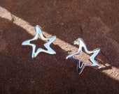Sterling Silver Star Fish Earrings Post