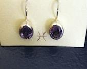 Beautiful Amethyst Earrings Set in Sterling Silver