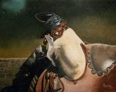 Old Friend, Western Print of an Old Saddle by B Bruckner