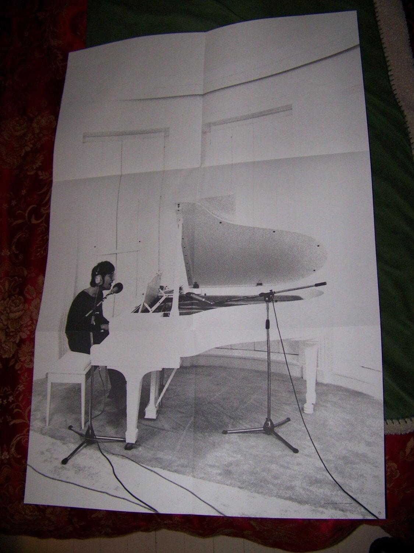 John Lennon Original Imagine Poster Vinyl Lp White Piano