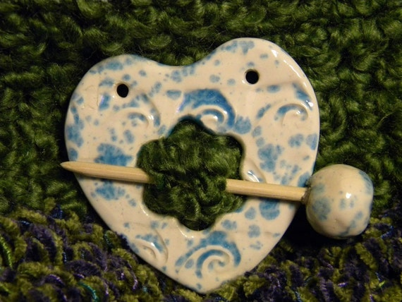 Heart Shaped Shawl Pin
