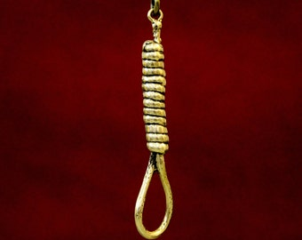 Hangman's Noose Necklace in Solid Bronze Hangman's Noose Pendant Necklace 137