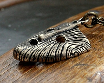 Two for One Sale....Mask Of Loki Necklace Viking Mask Of Loki pendant Necklace in Solid Bronze 146