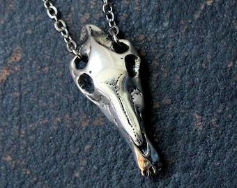 Horse Skull Necklace Silver Horse Skull Pendant Necklace 070