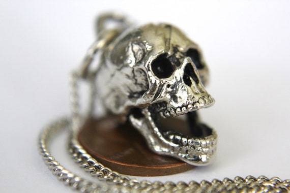 Two for One Sale...3D Laughing Skull Necklace 2029