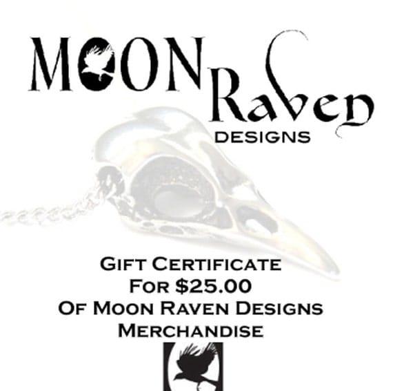 Twenty Five Dollar Gift Certificate - Moon Raven Designs