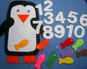 Pete the Penguin Counting Flannel Board Felt Board Set