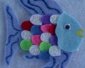 Rainbow Fish Children's Flannel Board Felt Set