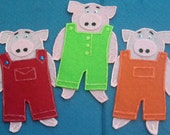 Three Little Pigs Flannel Board Felt Board Story