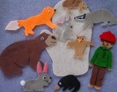 THE MITTEN Children's Flannel Board Felt Set