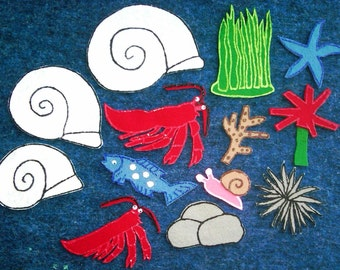 House for Hermit Crab flannel board felt board story