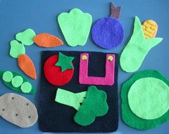 GROWING VEGETABLE SOUP Children's Flannel Board Felt Set