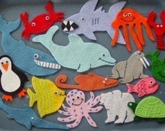 Commotion In The Ocean Children's Flannel Board Felt Set