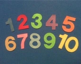 NUMBERS 1-10 CHILDREN'S Flannel Board Felt Set