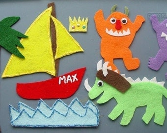 Wild Things Children's Flannel Board Felt Set