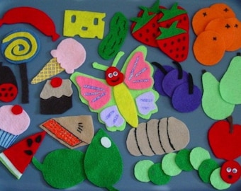 NUTRITION, Days of the Week, LIFECYCLE of a Butterfly Children's Flannel Board Felt Set