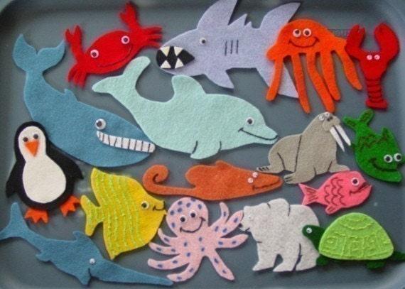 Commotion In The Ocean Children's Flannel Board Felt Set
