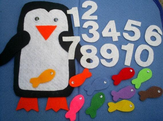 Pete the Penguin Counting Flannel Board Felt Board Set