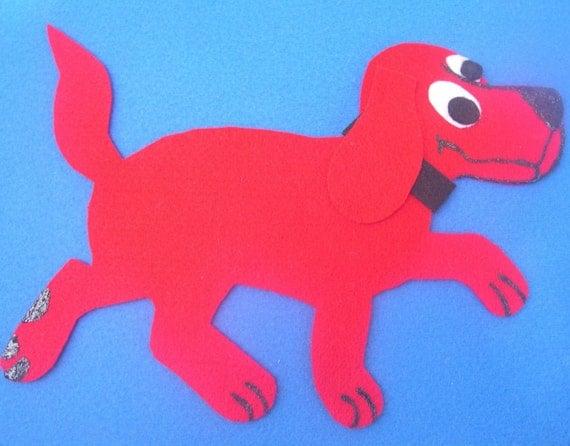 Clifford, The Big Red Dog Children's Flannel Board Felt Set
