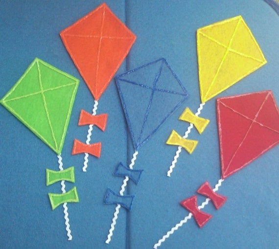 Five Little Kites Flannel Board Felt Board Story